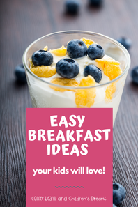 Do you need some quick and easy kids breakfast ideas? These healthy meal ideas are packed with protein and are perfect for even our picky eaters. These are the main meals I make for my toddler and preschooler before school or when we are on the go. They keep my kids full and ready for the day. Need something you can make ahead of time? Several of my ideas are the perfect grab and go breakfast.   #mornings #kidsbreakfast #coffeebeanstpt